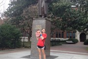 Statue and Mallie in Nash